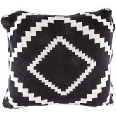 Black & Cream Diamond Pattern Pillow Cover